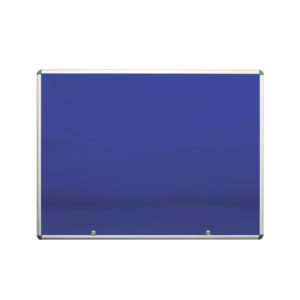 Lockable Display Case - blue felt